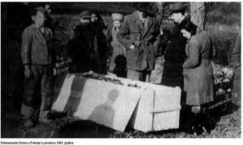 Ekshumacije žrtava u Prekopi u prosincu 1947. godine