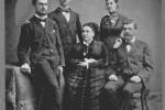 Petar Peleš s obitelji, 1880-ih godina