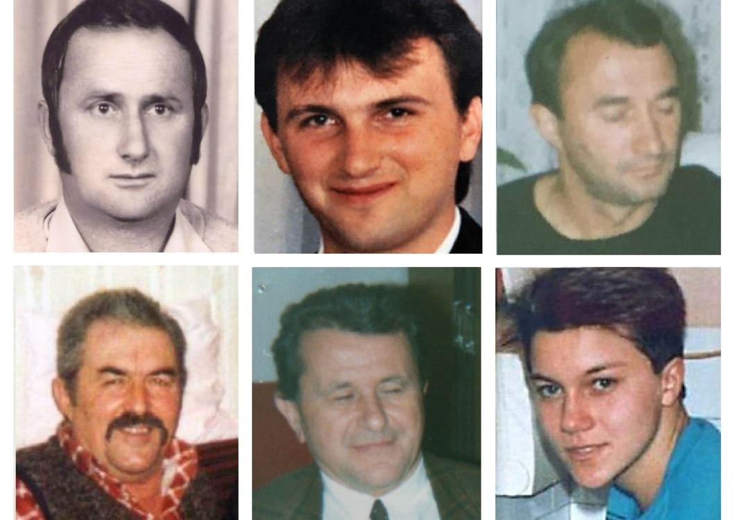 Ubijeni Siščani: Nikola i Zoran Trivkanović, Branko Oljača, Milan Cvetojević, Petar Pajagić i Ljubica Solar | Foto: Portal Novosti